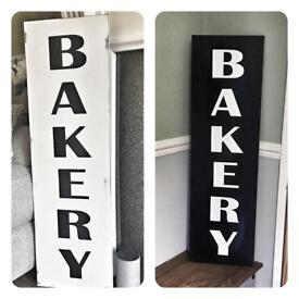 Bespoke personalised custom farmhouse style wooden signs wedding Home