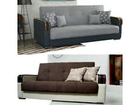 30 Days Money Back Guranteed - Brand New Malta 3 Seater Sofa Bed - Order Now