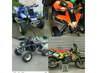 1x ktm quad and 2 yamaha banshee not raptor ltr ltz crf yz cr