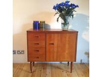 1960's Mid Century teak sewing table/cabinet
