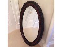 Antique Edwardian Large Oval Mirror