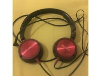 Sony Red/Black Headphones