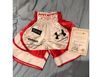 Signed Anthony Joshua boxing shorts
