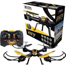 Swann XTREEM RAPTOR EYE UAV Quadcopter 720 HD Video Camera Drone Radio Control Rechargeable Micro SD