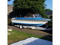 18ft speedboat with trailer and 90hp mercury outboard