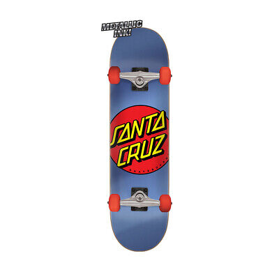 "Santa Cruz Skateboard Complete Classic Dot Blue/Red 8.0"" x 31.6"""