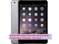 Like NEW Apple iPad Mini 3 RETINA Display 16GB, Wi-Fi, 7.9in -Space Grey + Apple Warranty