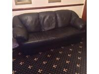3 piece 100% pure Italian leather sofa and armchair