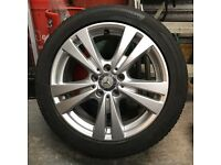 Mercedes Benz alloy rims and tyres