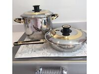 Set of Top Quality Stainless Steel Pots