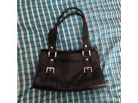Debenhams Black Leather Tote Bag
