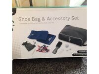 Golf shoe bag and accessories set