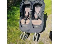 City jogger double twin pushchair