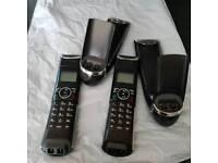 idect Boomerang cordless phones x 2