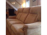 Parker Knoll 3-seater sofa and electric recliner armchair - perfect 10 days old