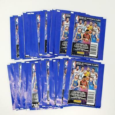 Lot of 20 New Sealed Unopened Packs 2020-21 Panini NBA Sticker Collection invA34