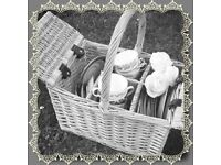 Pretty picnic basket