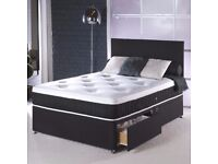 BRAND NEW Kingsize Bed/Double/Single Bed With Crown Orthopaedic Mattress with Same Day Delivery