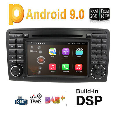 "7"" Android 9.0 Autoradio GPS Navigation DVD USB Wifi für Mercedes ML-Klasse W164"