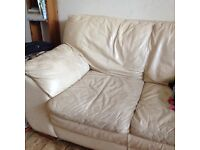 Large leather sofa and chair