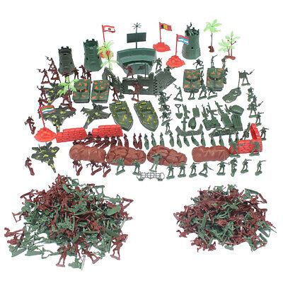 290pcs Militär Kunststoff Spielzeug Soldaten Armee Krieg Männer 4cm Spielset ()