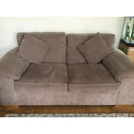 3 seater sofa, 2 seater sofa bed and swivel chair.