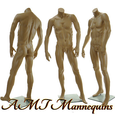 58 Male Headless Mannequin Muscular Manequin Man Manikin- Headless X-x