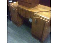 Vintage kneehole dressing table