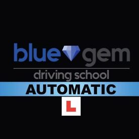 AUTOMATIC DRIVING LESSONS, BLUE GEM DRIVING SCHOOL APPROVED INSTRUCTORS 500+ PASSED, HIGH PASS RATE