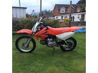 Kids Honda CRF70cc motor bike not road registered
