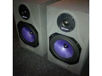 Harbeth Xpression DPM1/1pro Series speakers w/Brand New Cones !
