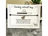 ⭐️ SENDING VIRTUAL HUGS ⭐️ Make A Wish Charm Bracelet, Wish Strings Gift For Her