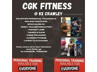 Personal trainer at K2 Crawley £50 /h with free gym access(Gatwick - Crawley -Horley - Redhill)