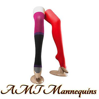 Female Mannequin Leg Display Long Stockingremovable Stand Skin Plastic- 1 Leg