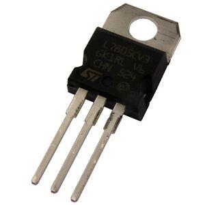 10 L7805CV STM Spannungsregler 7805 Voltage Regulator 1A + 5V TO-220 854832