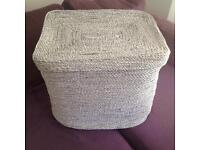 West Elm storage box hamper basket. Habitat Heals Made