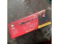 Red nicki Clarke straighten