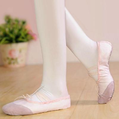 Pink Fairy Schuhe (PINK FAIRY CANVAS LEATHER BALLET SHOES SPLIT SOLE TODDLER DANCE SUPPLIES)