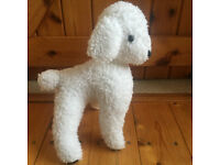 Vintage 1980's handmade cute white woolly lamb soft toy. Happy to post. £5 ovno.