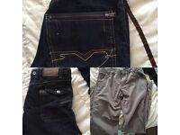 A big bundle of mixed boys cloths and foot ware age between 10-14