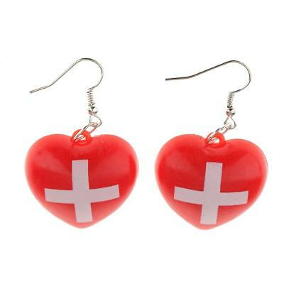 Magideal Krankenschwester Kostüm Rote Kreuz Ohrringe Krankenhaus - Rot Kreuz Krankenschwester Kostüm