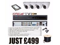4 Channel FULL HD CCTV DVR VIDEO RECORDER+ 4 TURBO FULL HD 1080 CCTV CAMERAS + INSTALLATION