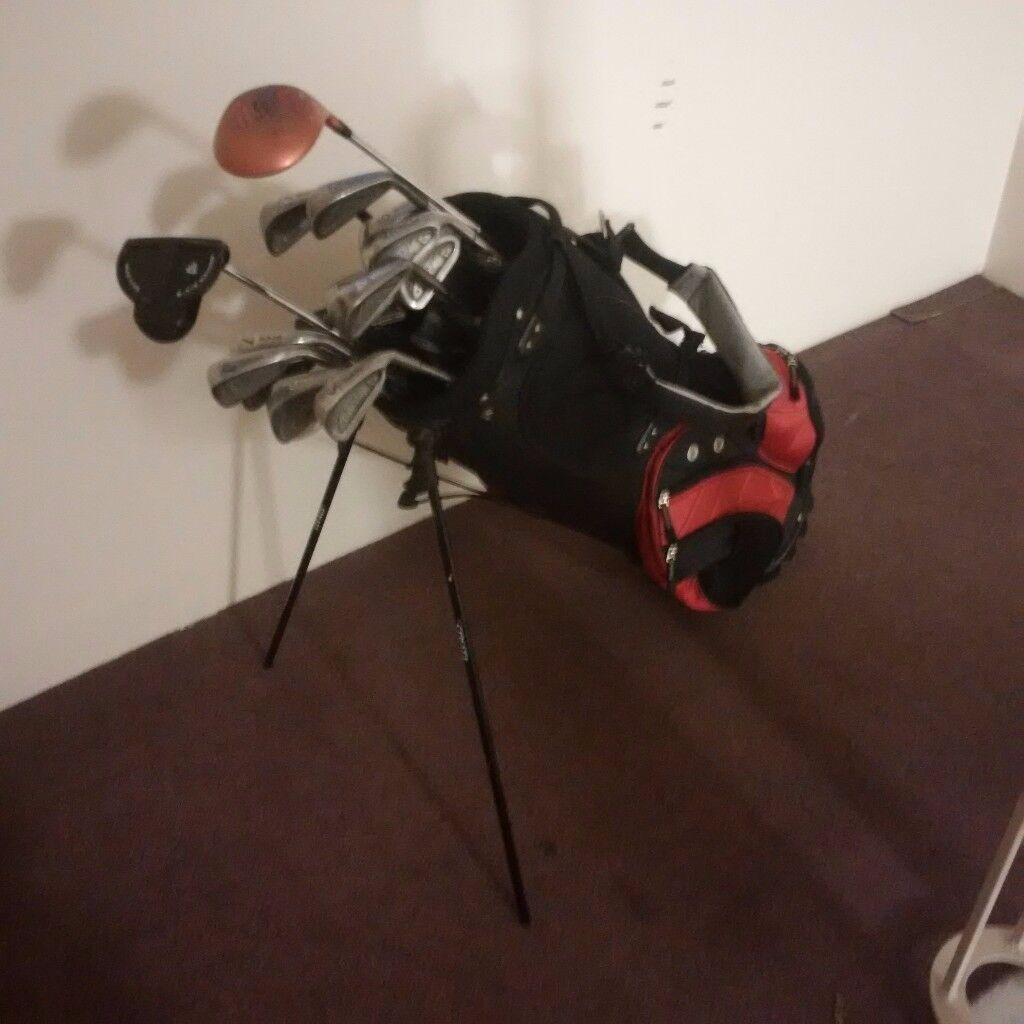 Used golf clubs & bag