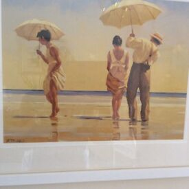 Mad dogs painting by jack vettriano
