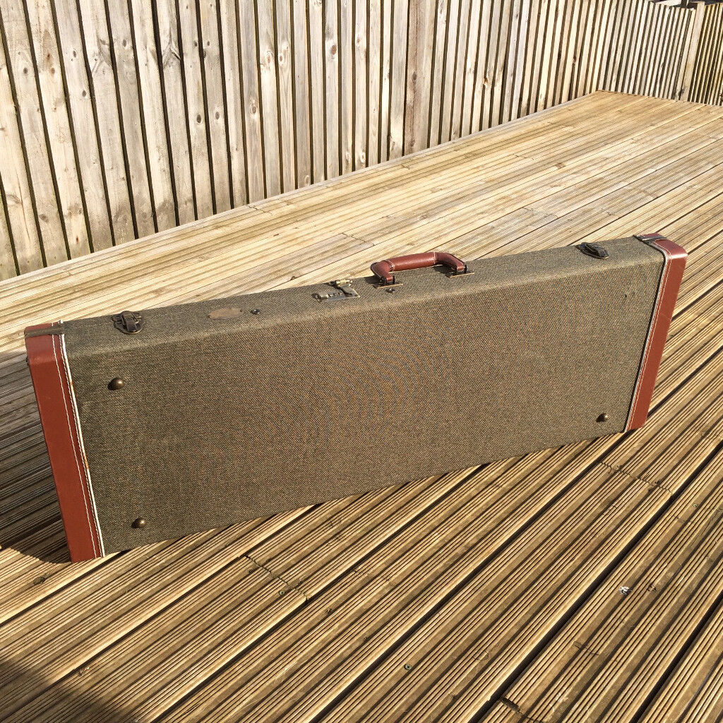 Stagg tweed Hard case for electric guitar - very sturdy.