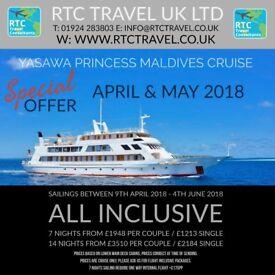 All Inclusive Holiday Maldives Yasawa Princess Island Cruise, Diving, Snorkeling, Cruise & Stay.