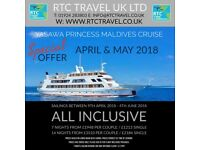 All Inclusive Holiday Maldives Yasawa Princess Island Cruise, Diving, Snorkeling, Cruise & Stay.