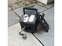 Portable Electric Winch, very effective portable winch, will pull a boat, campervan, car as required