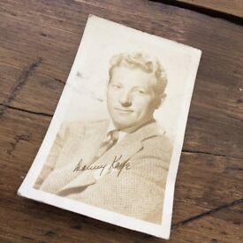 Danny Kaye Signed Vintage Postcard - Postmarked Beverly Hills 1952