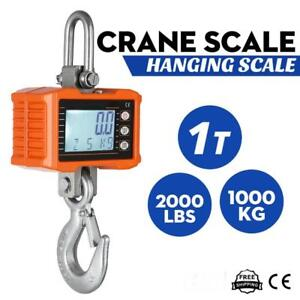 1000KG 1Ton 2000 LBS Digital Crane Scale Heavy Duty Hanging Scale OCS-S Silver - BRAND NEW - FREE SHIPPING